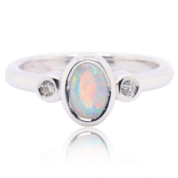 Crystal Opal Ring